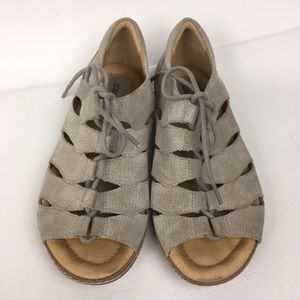 EARTH Suede Gladiator Lace Up Women's Sandals Sz 7